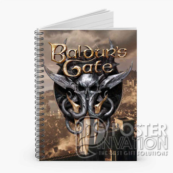 Baldur s Gate 3 Custom Spiral Notebook Ruled Line Front Cover Book Case Perfect Gift