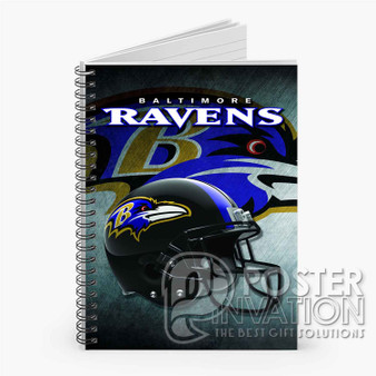 Baltimore Ravens NFL Custom Spiral Notebook Ruled Line Front Cover Book Case Perfect Gift