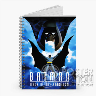 Batman Mask of the Phantasm Custom Spiral Notebook Ruled Line Front Cover Book Case Perfect Gift