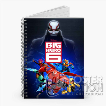 Big Hero 6 Custom Spiral Notebook Ruled Line Front Cover Book Case Perfect Gift