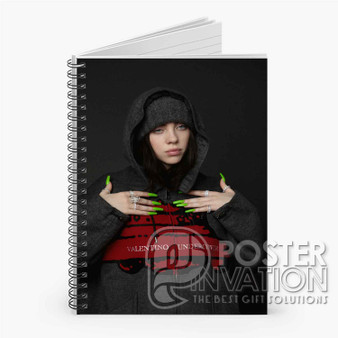 Billie Eilish Custom Spiral Notebook Ruled Line Front Cover Book Case Perfect Gift