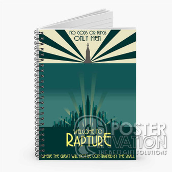 Bioshock Welcom TO Rapture Custom Spiral Notebook Ruled Line Front Cover Book Case Perfect Gift