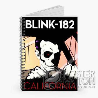 Blink 182 California Custom Spiral Notebook Ruled Line Front Cover Book Case Perfect Gift