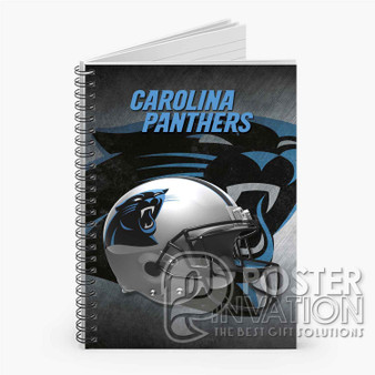 Carolina Panthers NFL Custom Spiral Notebook Ruled Line Front Cover Book Case Perfect Gift