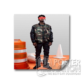 21 Savage Photo Custom Square Sticker 2x2 Inch 3x3 Inch 4x4 Inch 6x6 Inch Cars Motorcycles Home Wall Decor
