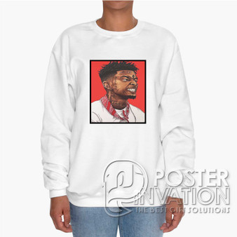 21 Savage Custom Unisex Heavy Blend Crewneck Sweatshirt S M L XL XXL XXXL Summer Winter Spring Perfect Gift