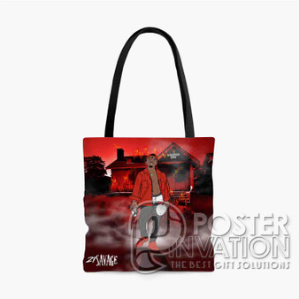 21 Savage Slaughter Gang Custom Tote Bag AOP Polyester S M L Comfort Fashionable Totebags Unisex Stylish Bag Perfect Gift