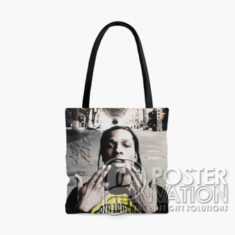 A ap Rocky 2 Custom Tote Bag AOP Polyester S M L Comfort Fashionable Totebags Unisex Stylish Bag Perfect Gift