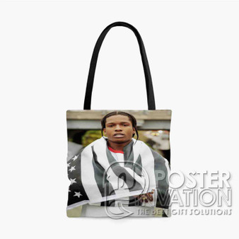 A ap Rocky Custom Tote Bag AOP Polyester S M L Comfort Fashionable Totebags Unisex Stylish Bag Perfect Gift