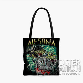 Alesana Custom Tote Bag AOP Polyester S M L Comfort Fashionable Totebags Unisex Stylish Bag Perfect Gift