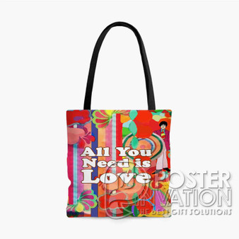 All You Need is Love Custom Tote Bag AOP Polyester S M L Comfort Fashionable Totebags Unisex Stylish Bag Perfect Gift