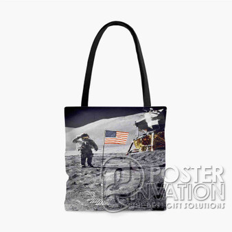 Apollo 15 Salute Custom Tote Bag AOP Polyester S M L Comfort Fashionable Totebags Unisex Stylish Bag Perfect Gift
