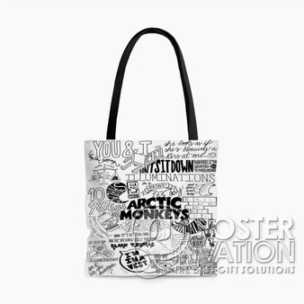 Arctic Monkeys Quotes Custom Tote Bag AOP Polyester S M L Comfort Fashionable Totebags Unisex Stylish Bag Perfect Gift