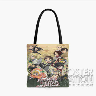 Attack on Titan Junior High Custom Tote Bag AOP Polyester S M L Comfort Fashionable Totebags Unisex Stylish Bag Perfect Gift