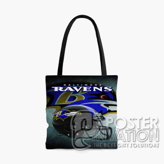 Baltimore Ravens NFL Custom Tote Bag AOP Polyester S M L Comfort Fashionable Totebags Unisex Stylish Bag Perfect Gift