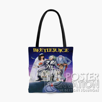 Beetlejuice Custom Tote Bag AOP Polyester S M L Comfort Fashionable Totebags Unisex Stylish Bag Perfect Gift