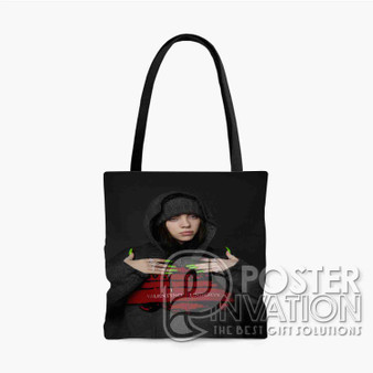 Billie Eilish Custom Tote Bag AOP Polyester S M L Comfort Fashionable Totebags Unisex Stylish Bag Perfect Gift