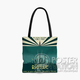 Bioshock Welcom TO Rapture Custom Tote Bag AOP Polyester S M L Comfort Fashionable Totebags Unisex Stylish Bag Perfect Gift
