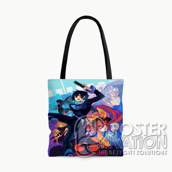 Black Bullet Characters Custom Tote Bag AOP Polyester S M L Comfort Fashionable Totebags Unisex Stylish Bag Perfect Gift
