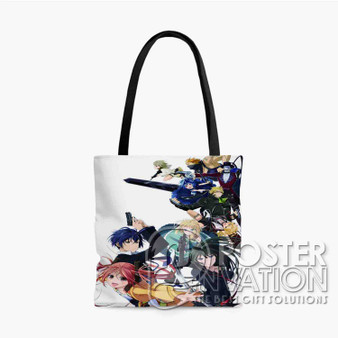 Black Bullet Custom Tote Bag AOP Polyester S M L Comfort Fashionable Totebags Unisex Stylish Bag Perfect Gift