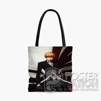 Bleach Ichigo Kurosaki Custom Tote Bag AOP Polyester S M L Comfort Fashionable Totebags Unisex Stylish Bag Perfect Gift