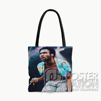 Childish Gambino Sing Custom Tote Bag AOP Polyester S M L Comfort Fashionable Totebags Unisex Stylish Bag Perfect Gift