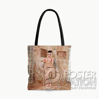 Christy Mack Custom Tote Bag AOP Polyester S M L Comfort Fashionable Totebags Unisex Stylish Bag Perfect Gift