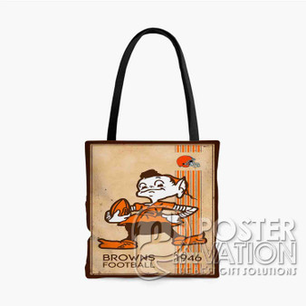 Cleveland Browns NFL 1946 Custom Tote Bag AOP Polyester S M L Comfort Fashionable Totebags Unisex Stylish Bag Perfect Gift