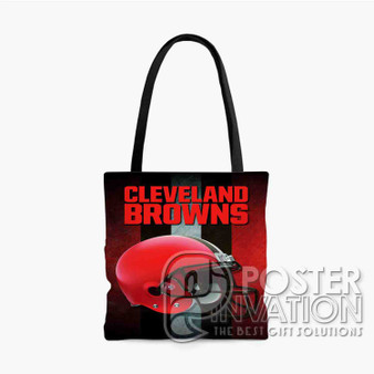 Cleveland Browns NFL Custom Tote Bag AOP Polyester S M L Comfort Fashionable Totebags Unisex Stylish Bag Perfect Gift