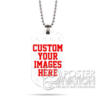 Custom Personalized Images Photos Designs Stainless Steel Military Dog Tag Necklace Pendant Perfect for Christmas Birthday Graduation Halloween Gift