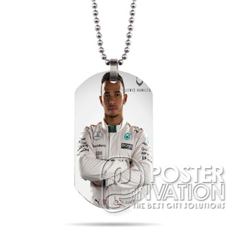 Lewis Hamilton Custom Stainless Steel Military Dog Tag Necklace Pendant