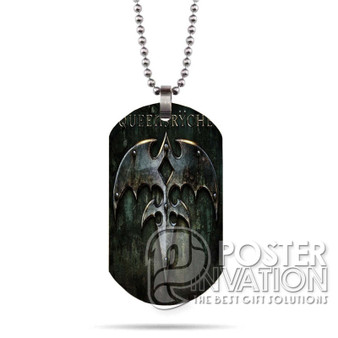 Queensryche 2 Custom Stainless Steel Military Dog Tag Necklace Pendant