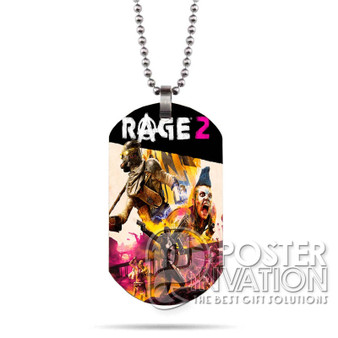 Rage 2 Custom Stainless Steel Military Dog Tag Necklace Pendant