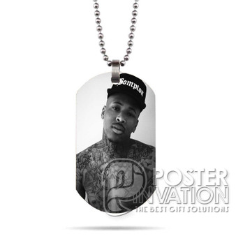YG Rapper Custom Stainless Steel Military Dog Tag Necklace Pendant