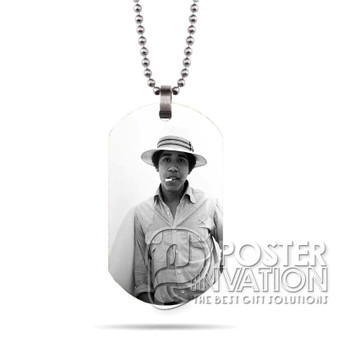 Young Obama SMoke Custom Stainless Steel Military Dog Tag Necklace Pendant