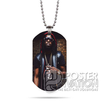Young Thug Custom Stainless Steel Military Dog Tag Necklace Pendant