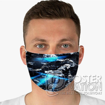 Dead Space Custom Fabric Face Mask Fashionable Two Layer Polyester
