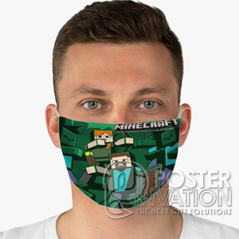 Minecraft 2 Custom Fabric Face Mask Fashionable Two Layer Polyester