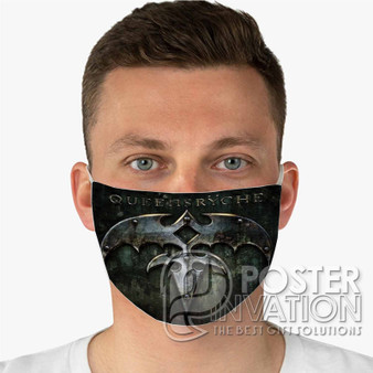 Queensryche 2 Custom Fabric Face Mask Fashionable Two Layer Polyester