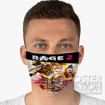 Rage 2 Custom Fabric Face Mask Fashionable Two Layer Polyester