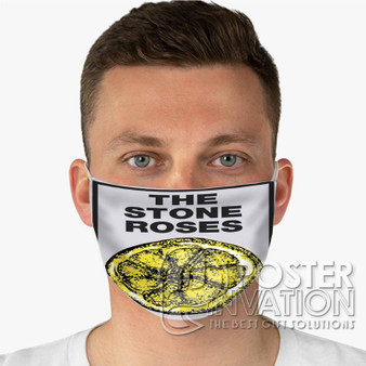 The Stone Roses Custom Fabric Face Mask Fashionable Two Layer Polyester