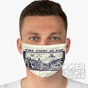 The Story So Far Custom Fabric Face Mask Fashionable Two Layer Polyester