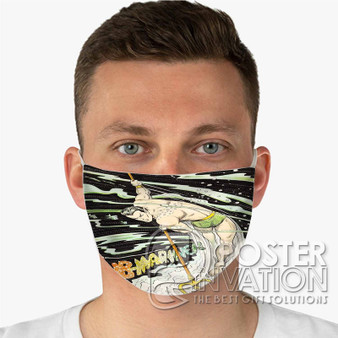 The Sub Mariner Custom Fabric Face Mask Fashionable Two Layer Polyester
