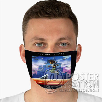 The Sun s Trade Isaiah Rashad Custom Fabric Face Mask Fashionable Two Layer Polyester