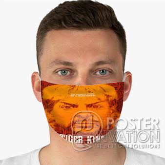 Tiger King Custom Fabric Face Mask Fashionable Two Layer Polyester
