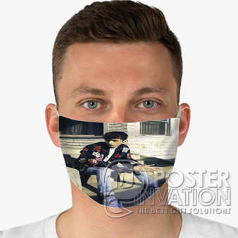 Troye Sivan Custom Fabric Face Mask Fashionable Two Layer Polyester