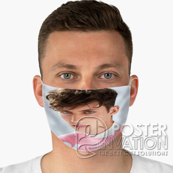 Troye Sivan Face Custom Fabric Face Mask Fashionable Two Layer Polyester