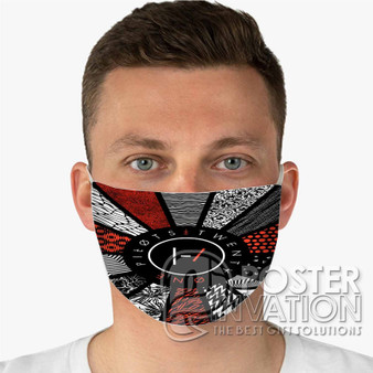 Twenty One Pilots Pattern Flag Custom Fabric Face Mask Fashionable Two Layer Polyester
