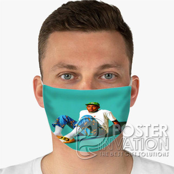 Tyler The Creator Custom Fabric Face Mask Fashionable Two Layer Polyester