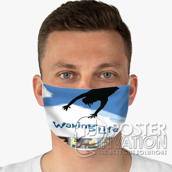 Waking Life Custom Fabric Face Mask Fashionable Two Layer Polyester
